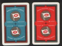 Collectible Advertising shipping line. playing cards. Manchester Liners